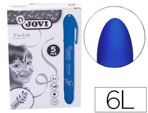BARRA DE MAQUILLAJE JOVI TWIST MAKE-UP AZUL CAJA DE 5 UNIDADES