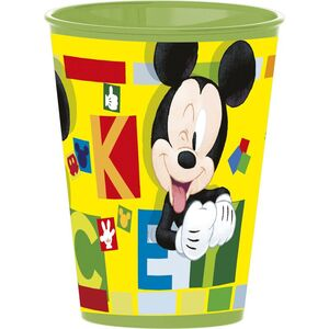 VASO REUTILIZABLE PLASTICO DURO MICKEY DISNEY 260 ML.