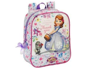 CARTERA ESCOLAR SAFTA PRINCESA SOFIA MOCHILA GUARDERIA ADAPTABLE A CARRO 220X270X100 MM
