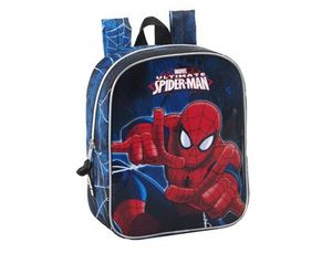 CARTERA ESCOLAR SAFTA ULTIMATE SPIDER-MAN MOCHILA GUARDERIA ADAPTABLE A CARRO 220X270X100 MM