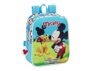 CARTERA ESCOLAR SAFTA MICKEY MOUSE CLUB HOUSE MOCHILA GUARDERIA ADAPTABLE A CARRO 220X270X100 MM