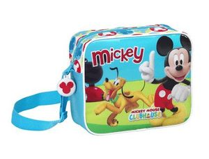CARTERA ESCOLAR SAFTA MICKEY MOUSE CLUB HOUSE BANDOLERA GUARDERIA 240X200X80 MM