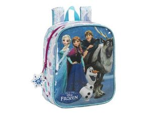 CARTERA ESCOLAR SAFTA FROZEN FRIENDS FOREVER MOCHILA GUARDERIA ADAPTABLE A CARRO 220X270X100 MM