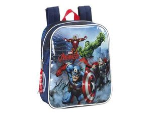 CARTERA ESCOLAR SAFTA AVENGERS ASSEMBLE MOCHILA GUARDERIA ADAPTABLE A CARRO 220X270X100 MM