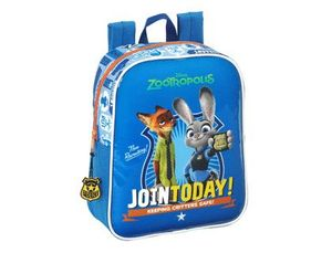 CARTERA ESCOLAR SAFTA ZOOTROPOLIS MOCHILA GUARDERIA ADAPTABLE A CARRO 220X270X100 MM