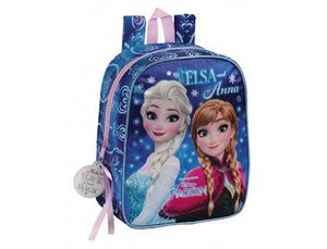 CARTERA ESCOLAR SAFTA FROZEN NORTHERN LIGHTS MOCHILA GUARDERIA ADAPTABLE A CARRO 220X270X100 MM