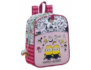 CARTERA ESCOLAR SAFTA MINIONS GIRL MOCHILA GUARDERIA ADAPTABLE A CARRO 220X270X100 MM