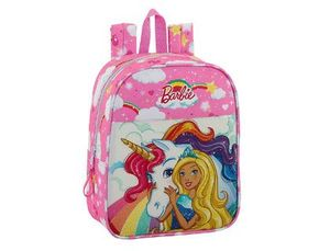 CARTERA ESCOLAR SAFTA BARBIE DREAMTOPIA MOCHILA GUARDERIA ADAPTABLE A CARRO 220X270X100 MM