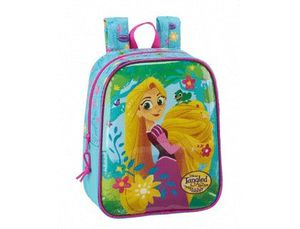 CARTERA ESCOLAR SAFTA TANGLED THE SERIES MOCHILA GUARDERIA ADAPTABLE A CARRO 220X270X100 MM