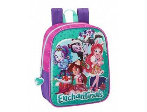 CARTERA ESCOLAR SAFTA ENCHANTIMALS MOCHILA GUARDERIA ADAPTABLE A CARRO 220X270X100 MM