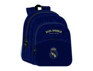 MOCHILA JUNIOR ADAPTABLE A CARRO SAFTA REAL MADRID 2 EQUIPACION 19/20 320X380X120 MM