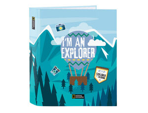 CARPETA CARTON FOLIO 4A MIXTAS 40 MM SAFTA NATIONAL GEOGRAPHIC EXPLORER 270X60X330 MM