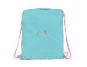 CARTERA ESCOLAR SAFTA BENETTON CANDY SACO PLANO 350X400 MM