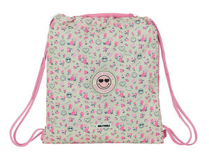 CARTERA ESCOLAR SAFTA SMILEY WORLD GARDEN SACO PLANO 350X400 MM