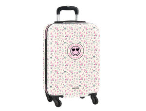 CARTERA ESCOLAR SAFTA SMILEY WORLD GARDEN TROLLEY CABINA 345X200X550 MM