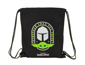 CARTERA ESCOLAR SAFTA THE MANDALORIAN SACO PLANO 350X400 MM