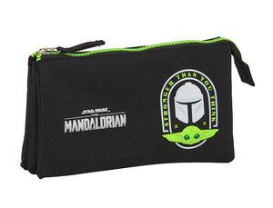 ESTUCHE TRIPLE SAFTA THE MANDALORIAN 220X30X120 MM