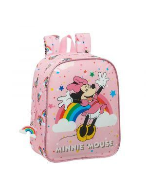 MOCHILA GUARDERIA ADAPTABLE A CARRO SAFTA MINNIE MOUSE RAINBOW 220X100X270 MM