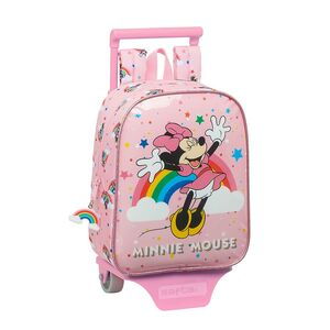 MOCHILA INFANTIL CON CARRO SAFTA MINNIE MOUSE RAINBOW 220X100X280 MM