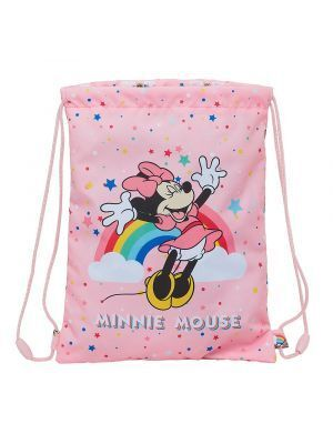 SACO PLANO JUNIOR SAFTA MINNIE MOUSE RAINBOW 260X340 MM