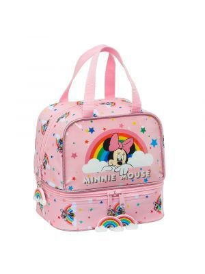 PORTAMERIENDAS SAFTA MINNIE MOUSE RAINBOW 200X150X200 MM