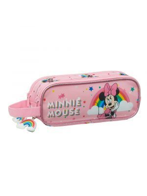 ESTUCHE DOBLE SAFTA MINNIE MOUSE RAINBOW 210X60X80 MM