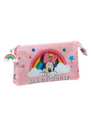 ESTUCHE TRIPLE SAFTA MINNIE MOUSE RAINBOW 220X30X120 MM