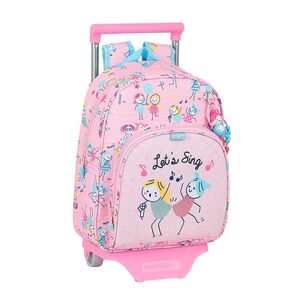 MOCHILA INFANTIL CON CARRO SAFTA GLOWLAB KIDS BEST FRIENDS 280X100X340 MM