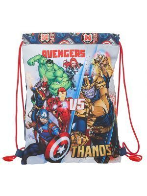 SACO PLANO JUNIOR SAFTA AVENGERS HEROES VS THANOS 260X340 MM