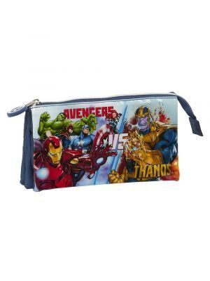 ESTUCHE TRIPLE SAFTA AVENGERS HEROES VS THANOS 220X30X120 MM
