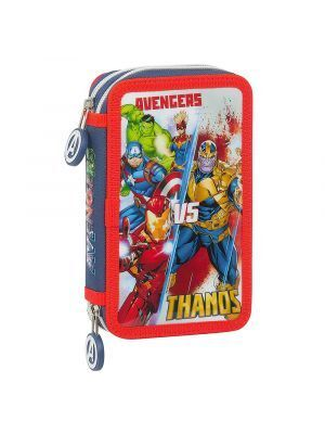 ESTUCHE DOBLE LLENO SAFTA AVENGERS HEROES VS THANOS 125X40X195 MM