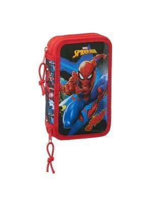 ESTUCHE DOBLE LLENO SAFTA SPIDERMAN GO HERO 125X40X195 MM
