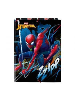 CARPETA CARTON FOLIO GOMAS SOLAPAS SAFTA SPIDERMAN GO HERO 260X25X335 MM