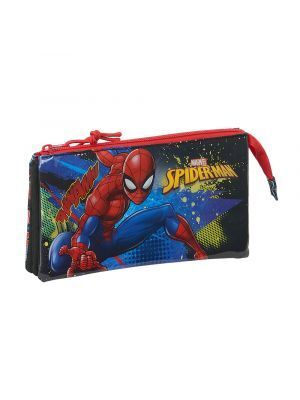 ESTUCHE TRIPLE SAFTA SPIDERMAN GO HERO 220X30X120 MM