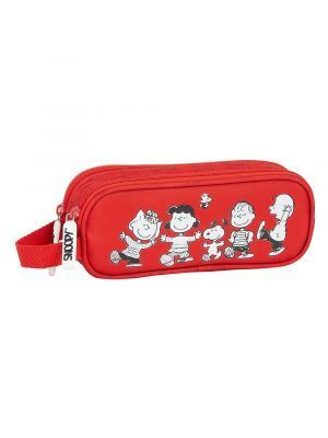 ESTUCHE DOBLE SAFTA SNOOPY 210X60X80 MM