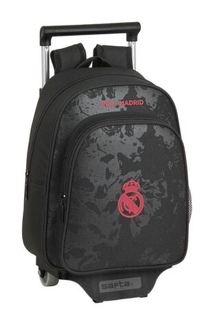 CARTERA ESCOLAR SAFTA CON CARRO REAL MADRID \