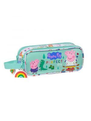 ESTUCHE DOBLE SAFTA PEPPA PIG 210X60X80 MM