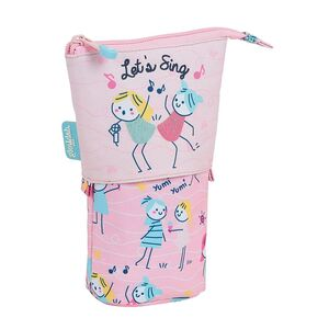 ESTUCHE CUBILETE SAFTA GLOWLAB KIDS BEST FRIENDS 80X60X190 MM