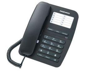 TELEFONO DAEWOO DTC-240 MANOS LIBRES RELLAMADA ULTIMO NUMERO TRANSFERENCIA DE LLAMADAS COLOR NEGRO