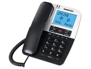 TELEFONO DAEWOO DTC-410 MANOS LIBRES 4 TECLAS DE MEMORIA DIRECTA FUNCION RELLAMADA COLOR NEGRO