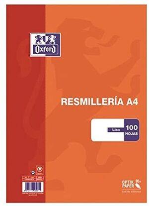 RESMILLERIA A4 100HJ 90GR LISO OXFORD
