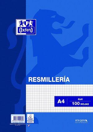 RESMILLERIA OXFORD A4 CUADRICULADO 100 HJ 90GR