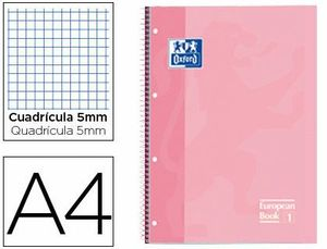CUADERNO OXFOR A4 90 GRS 5X5 ROSA CHICLE