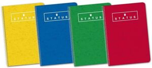 CUADERNO OXFORD STATUS Fº 4X4 MM T/D 80 HJ  70 GR SURTIDO