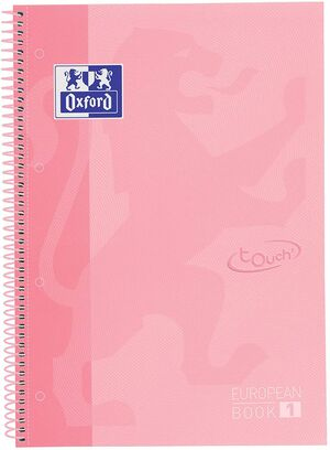 EUROPEANBOOK 1 5X5 A4+ 80 HJ T/E OXFORD FLAMINGO PASTEL