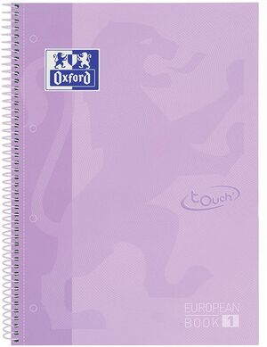EUROPEANBOOK 1 5X5 A4+ 80 HJ T/E OXFORD MALVA PASTEL