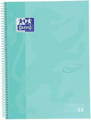 EUROPEANBOOK 1 5X5 A4+ 80 HJ T/E OXFORD ICE MINT PASTEL