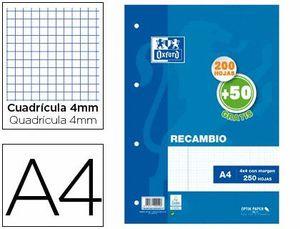 RECAMBIO OXFORD 4X4 MM A4 200+50 HJ 90 GR