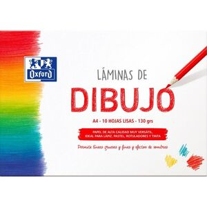 SOBRE 10 LAMINAS DIBUJO OXFORD LISO A4 130 GR