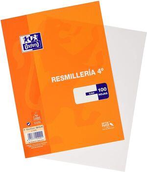 RESMILLERIA OXFORD LISO 4º 100 HJ 90GR
